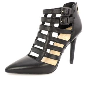 Jessica Simpson black caged heels